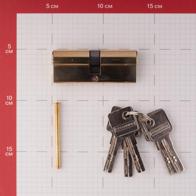 Цилиндр Palladium C ET PB 80 (40х40) мм ключ/ключ латунь (фото 2)