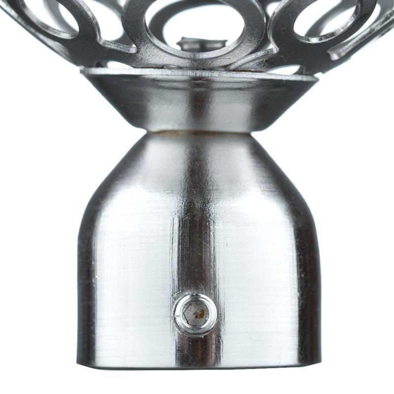 Наконечник Шар ажурный d 20 мм серебро 2 шт.
