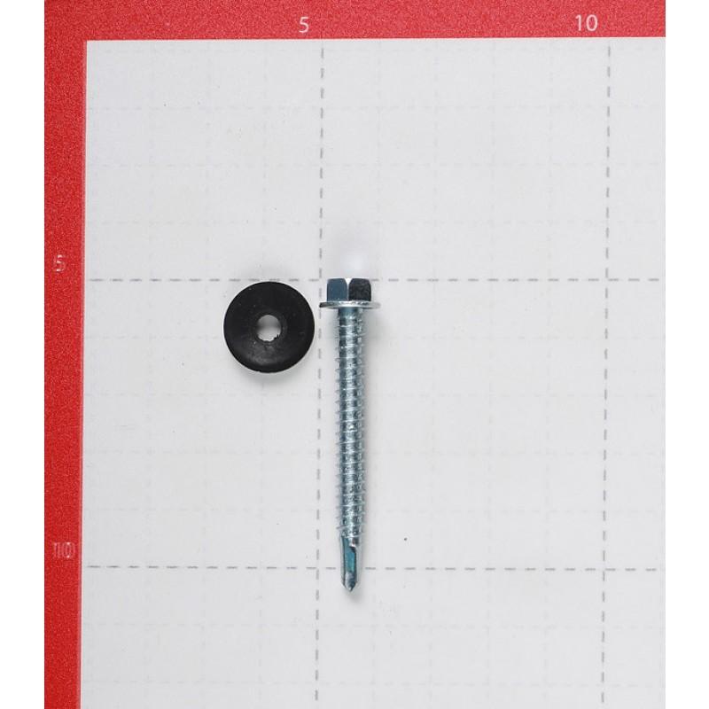 Саморезы кровельные с буром 51x5.5 мм оцинкованные (180 шт.) (фото 3)