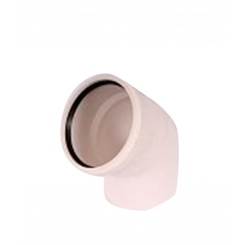 Отвод Rehau Raupiano Plus d110 мм 45° пластиковый шумопоглощающий для внутренней канализации