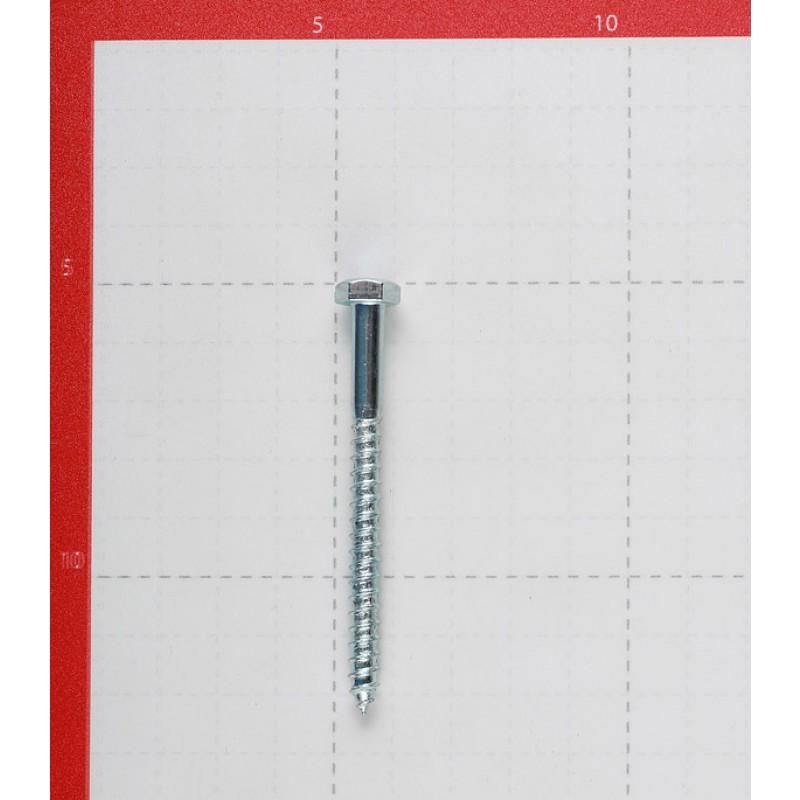 Болт сантехнический 6х70 мм DIN 571 оцинкованный (4 шт.)
