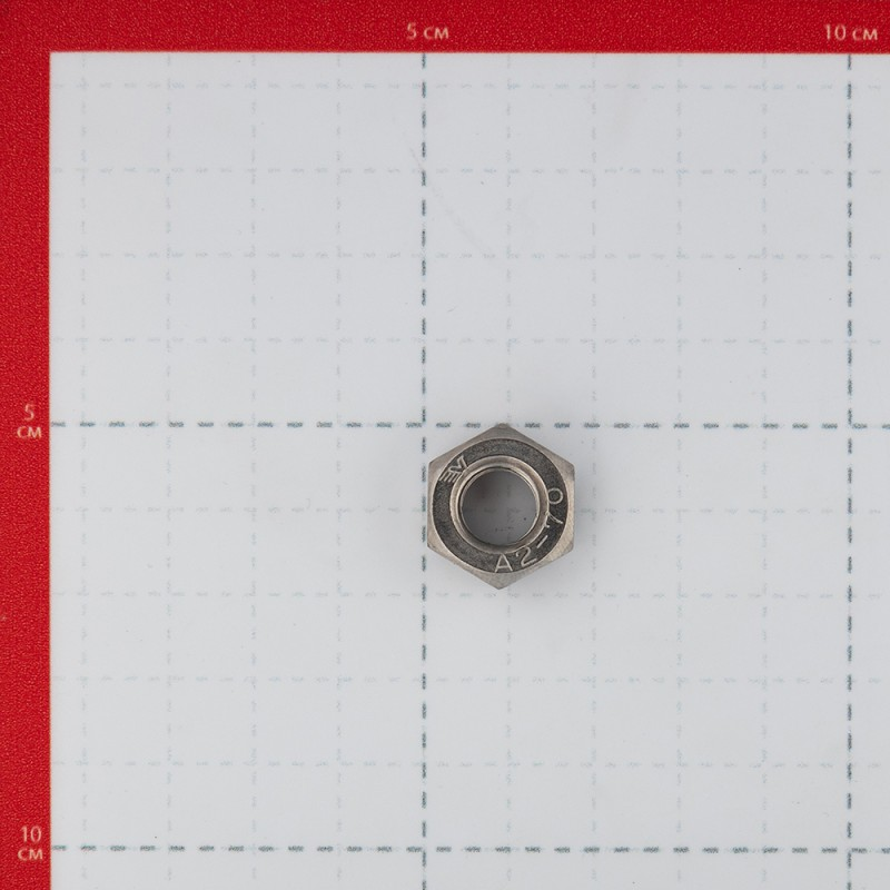 Гайка крепежная нержавеющая сталь M10 DIN 934 (5 шт.) (фото 2)