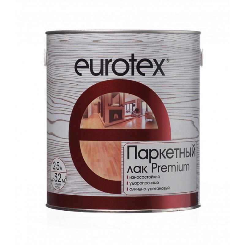 Лак алкидно-уретановый паркетный Eurotex Premium бесцветный 2,5 л глянцевый