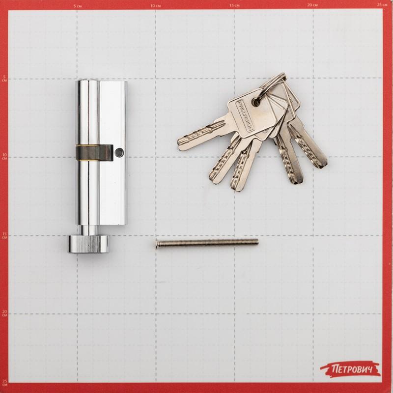 Цилиндр Palladium C BK CP 90 (45х45) мм ключ/вертушка хром (фото 2)