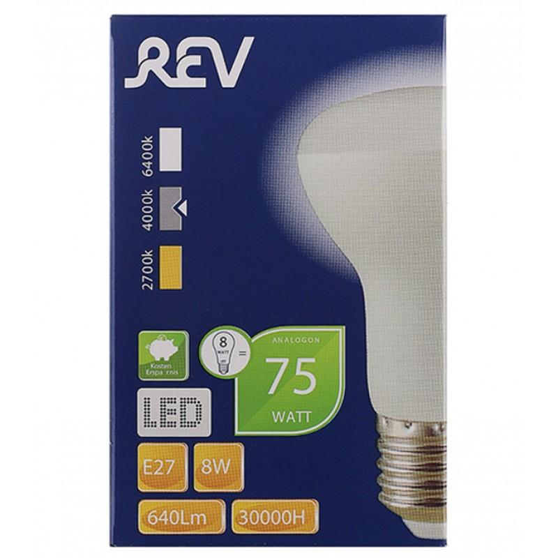Лампа светодиодная REV 8 Вт E27 рефлектор R63 4000 К дневной свет 230 В матовая (фото 2)