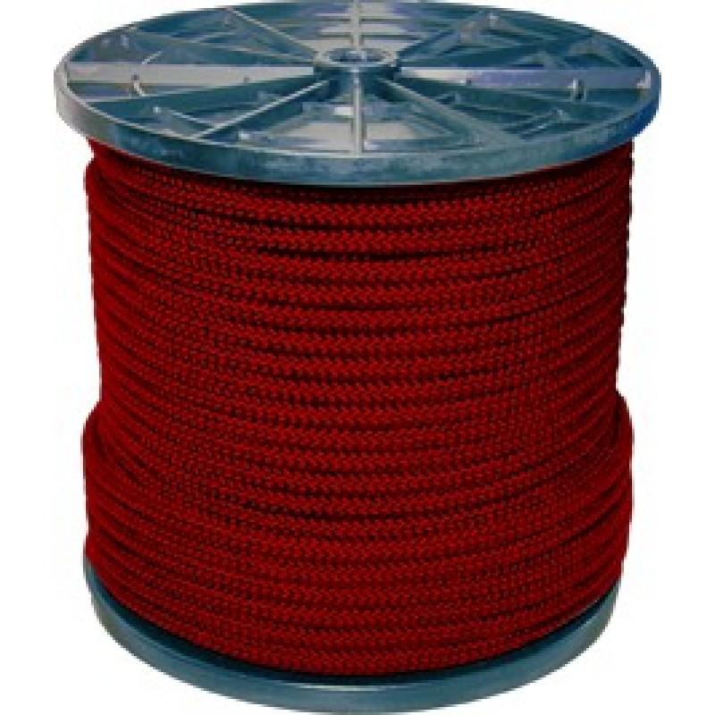 Шнур вязанный полипропиленовый 8 прядей красный d3 мм