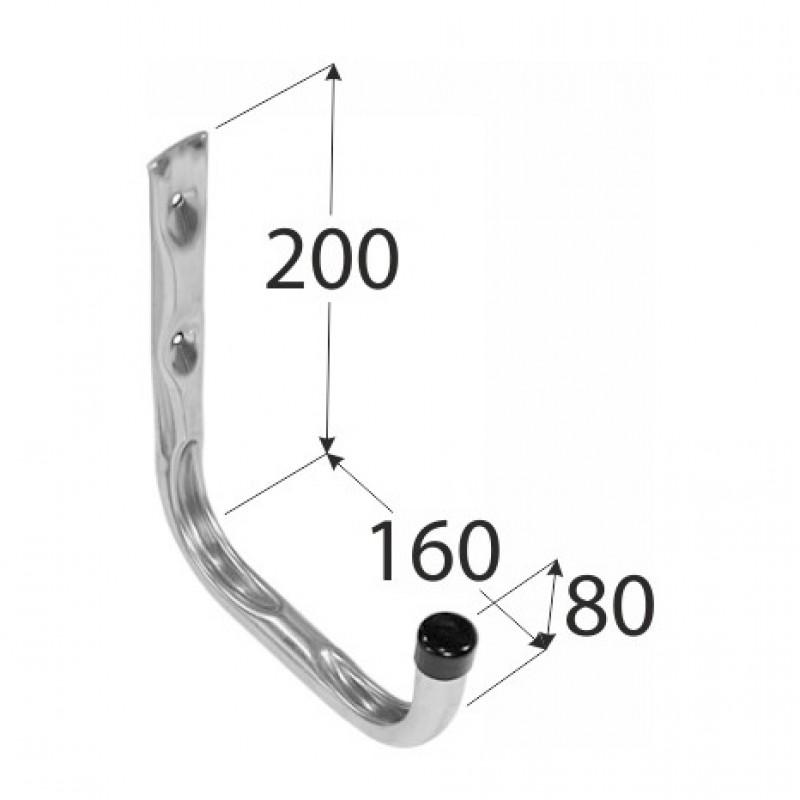 Крюк одиночный DMX тип U 200х160х80 мм оцинкованный
