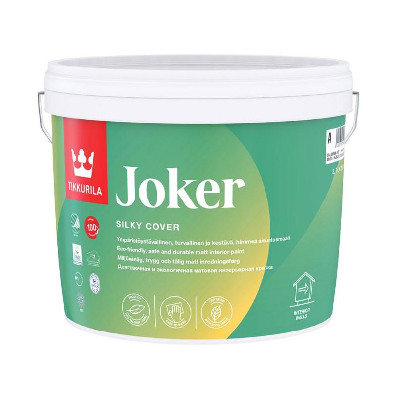 Краска водно-дисперсионная Tikkurila Joker моющаяся основа C 2,7 л