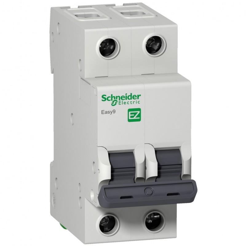 Автоматический выключатель Schneider Electric Easy9 (EZ9F56250) 2P 50А тип C 6 кА 220 В на DIN-рейку