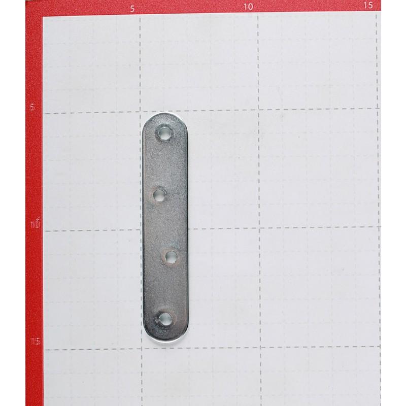 Пластина крепежная оцинкованная 100х19х2.0 мм (4 шт.)