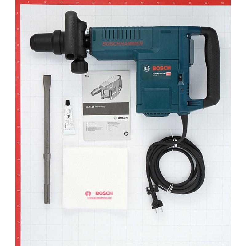 Отбойный молоток электрический Bosch GSH 11 E (611316708) 1500 Вт 16,8 Дж SDS-max