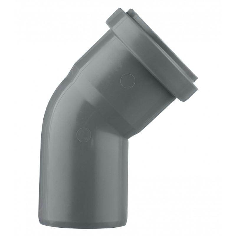 Отвод Ostendorf d50 мм 45° пластиковый для внутренней канализации