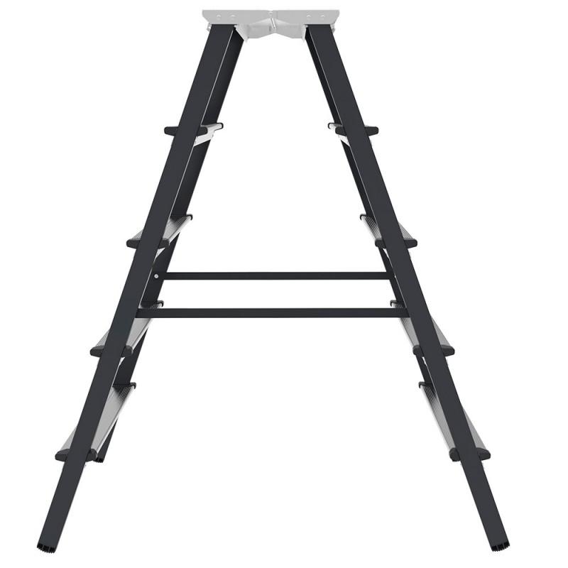 Стремянка Новая высота 5 ступеней 110 см алюминиевая двухсторонняя ступень 80 мм