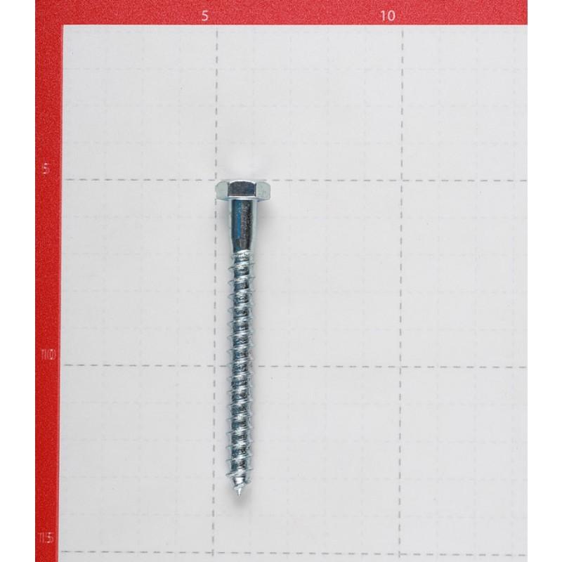 Болт сантехнический 8х80 мм DIN 571 оцинкованный (20 шт.)