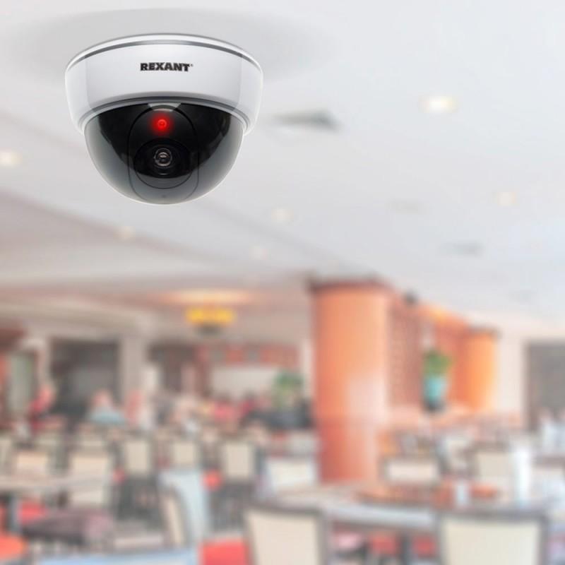 Муляж видеокамеры купольный Rexant внутренняя установка белый