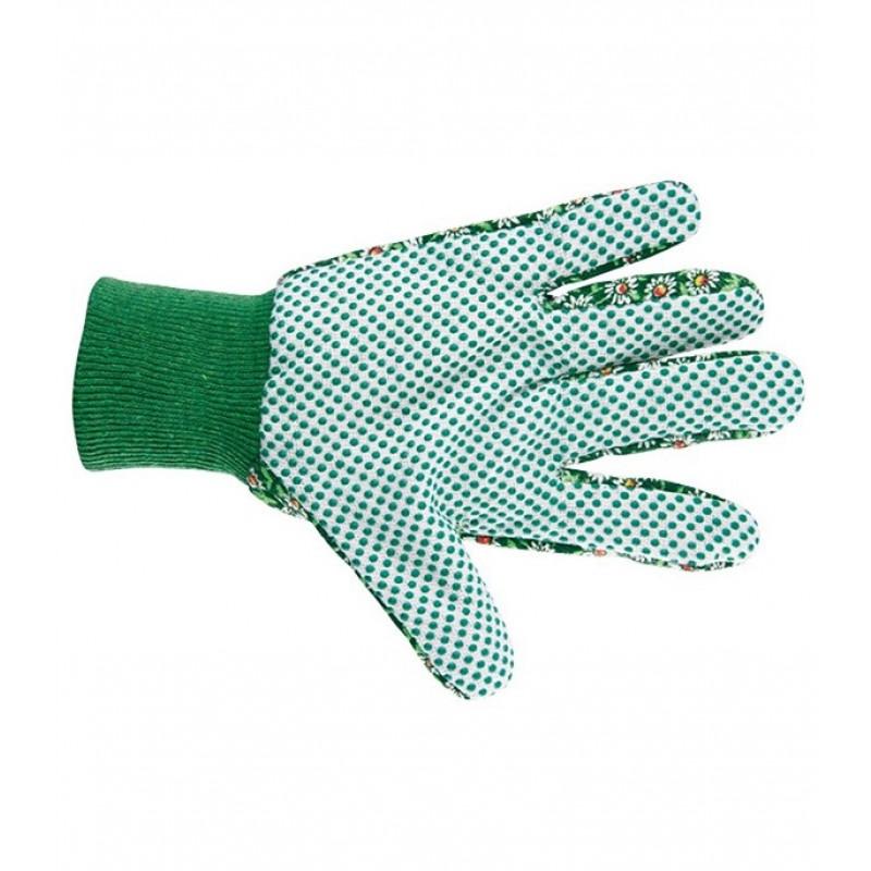 Хлопчатобумажные перчатки Стандарт с ПВХ покрытием манжет резинка размер M