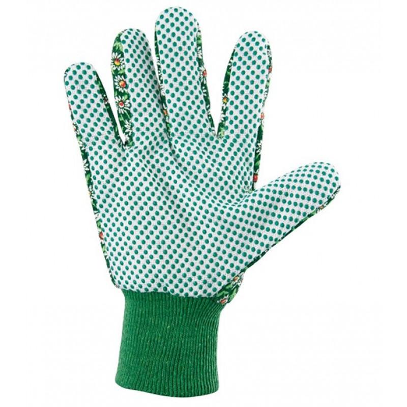 Хлопчатобумажные перчатки Стандарт с ПВХ покрытием манжет резинка размер M (фото 2)