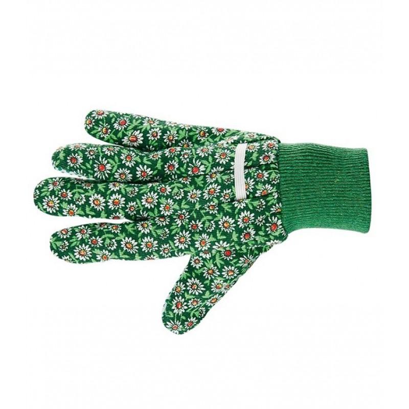 Хлопчатобумажные перчатки Стандарт с ПВХ покрытием манжет резинка размер M (фото 3)