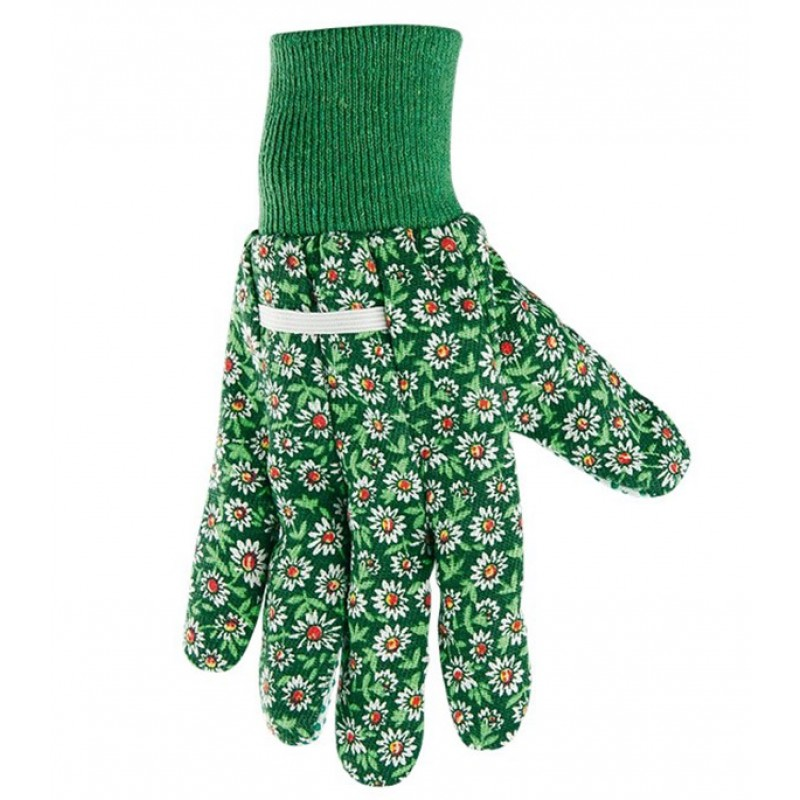 Хлопчатобумажные перчатки Стандарт с ПВХ покрытием манжет резинка размер M (фото 4)