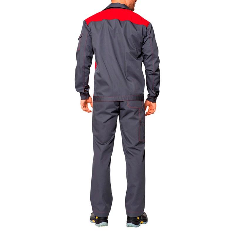 Костюм рабочий Спец-1 52-54 рост 182-188 см цвет серый/красный