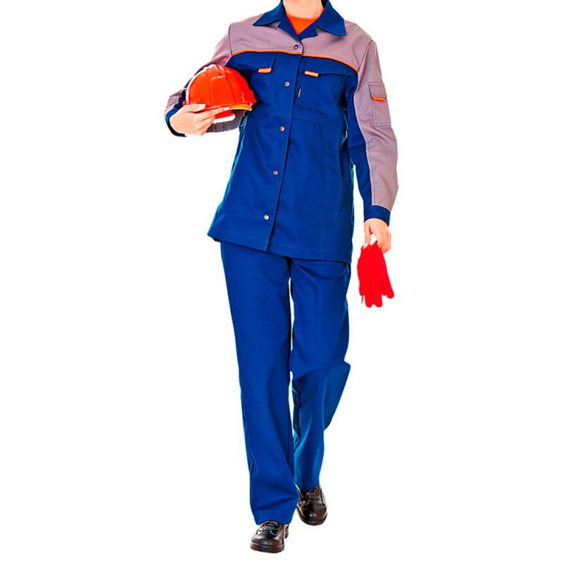 Костюм рабочий Леди Спец-1 52-54 рост 170-176 см цвет темно-синий/серый