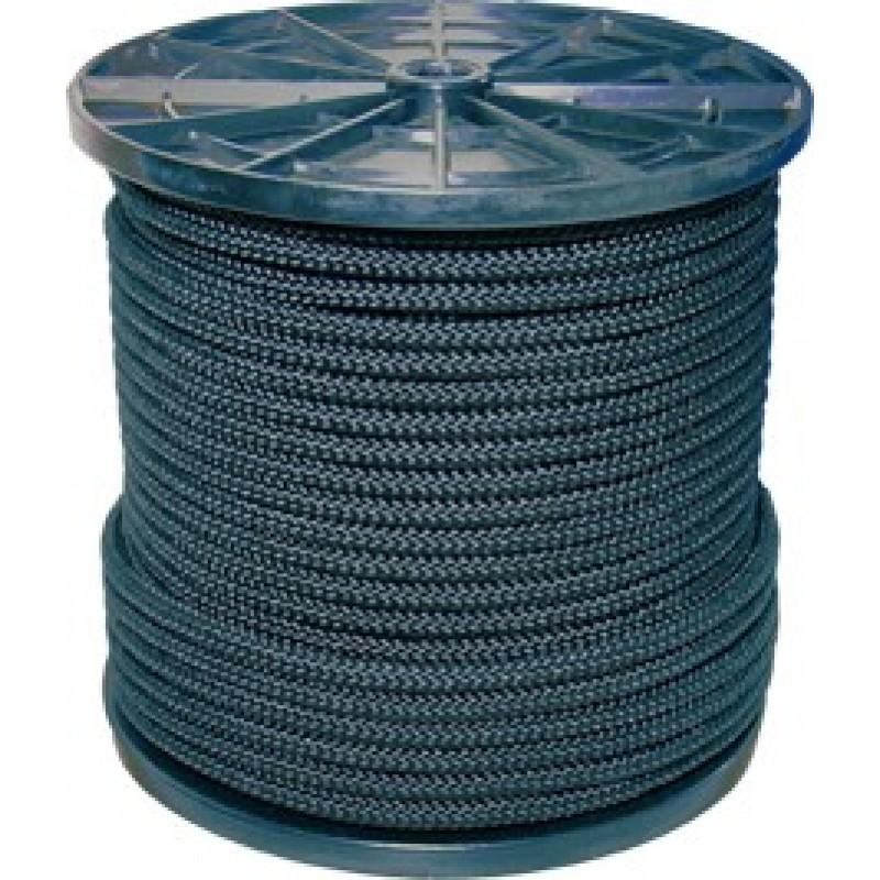Шнур вязанный полипропиленовый 8 прядей черный d3 мм