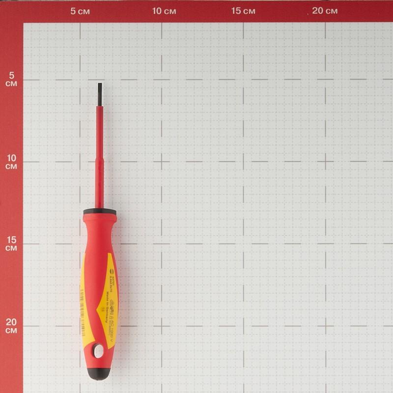 Отвертка диэлектрическая Witte (53701) плоская 2,5х75 мм 1000 В (фото 3)