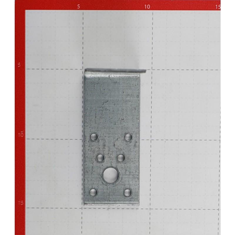 Уголок крепежный оцинкованный 90х90х40х2.5 мм (фото 2)