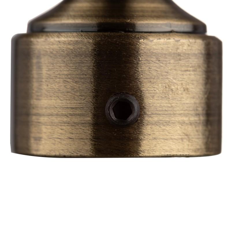 Наконечник Шар с огранкой d 20 мм бронза 2 шт.