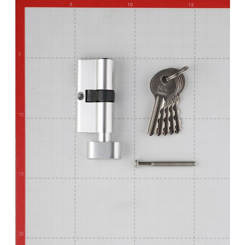 Цилиндр Palladium AL 60 T01 CP 60 (30х30) мм ключ-вертушка хром