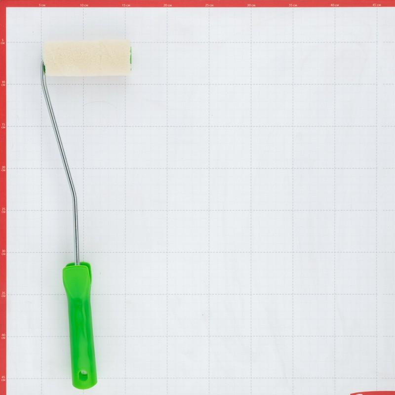 Валик Wenzo Siena велюр 100 мм ворс 4 мм для эмалей и лаков на алкидной основе с рукояткой (фото 3)