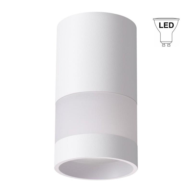Светильник накладной NOVOTECH ELINA (370679) GU10 d65х125 мм 9 Вт 220 В IP20 цилиндрический белый