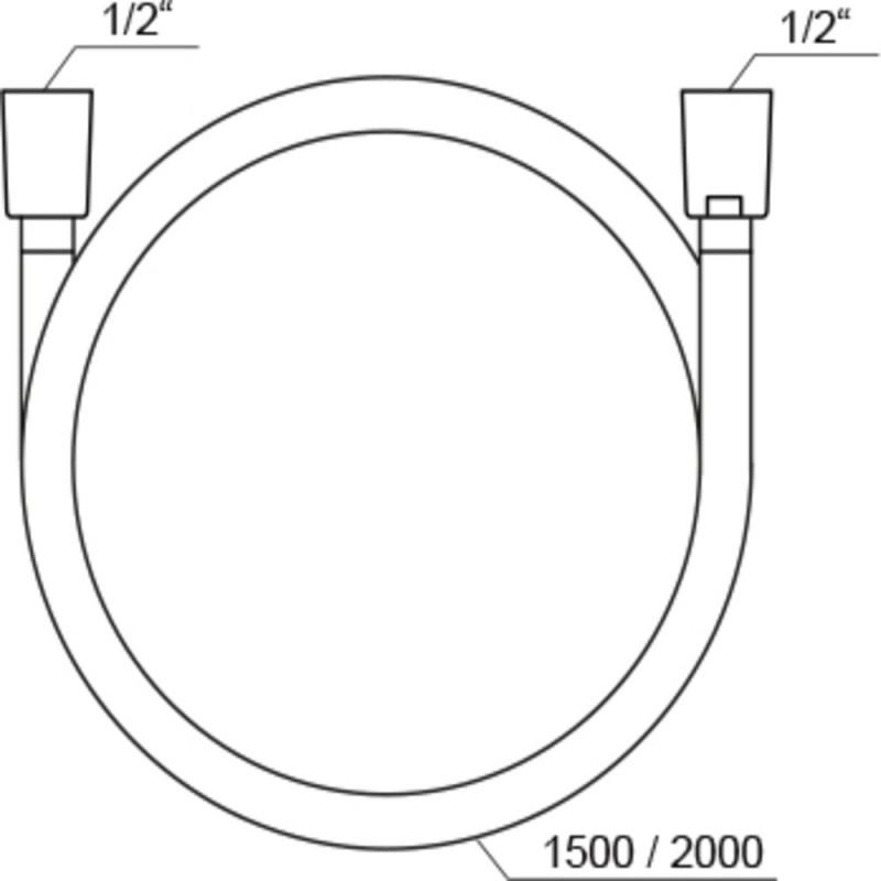 Душевой шланг Ravak SilverShine 914.02 X07P339 2000 мм пластик