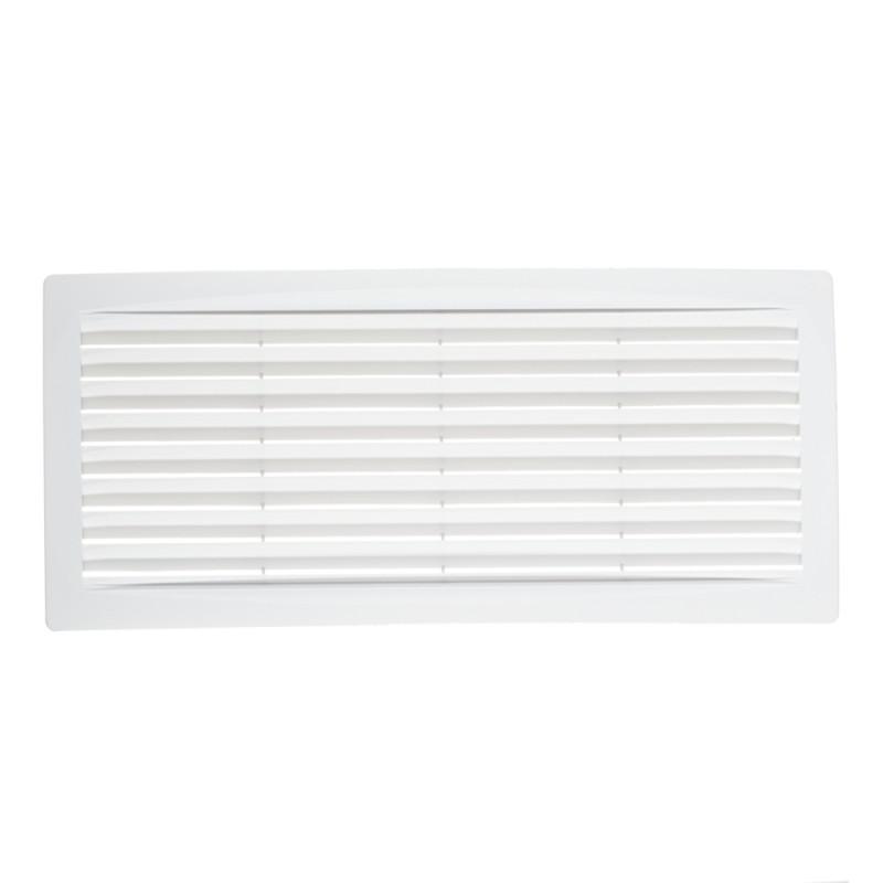 Решетка вентиляционная пластиковая переточная ERA 300х135 мм белая (фото 2)