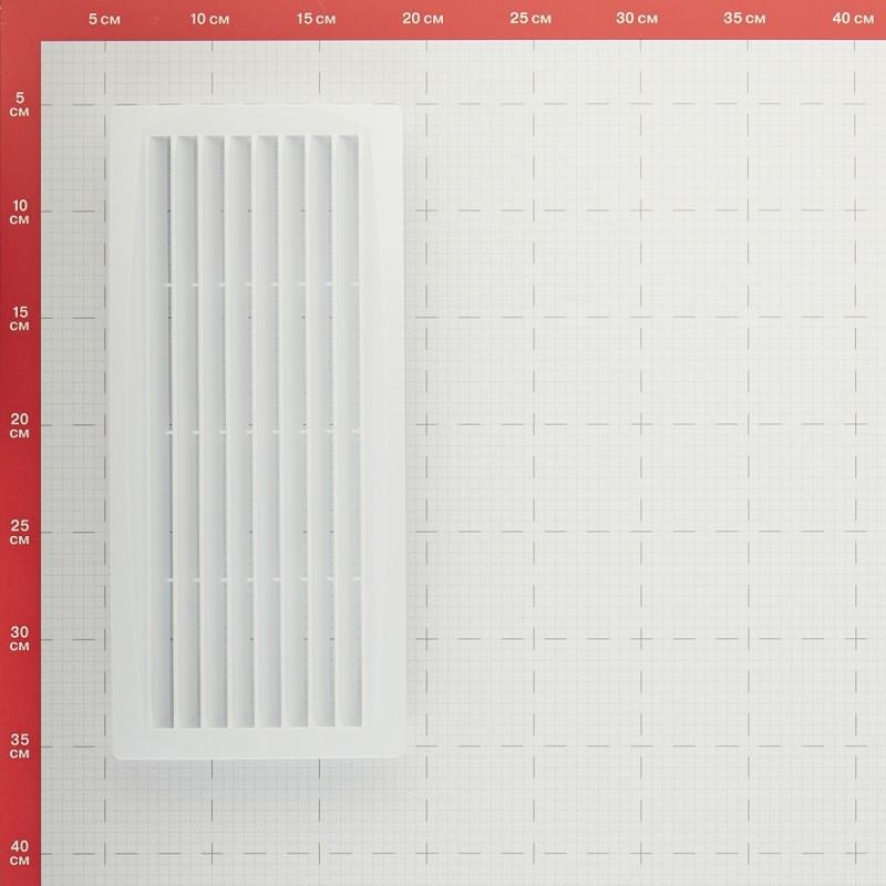 Решетка вентиляционная пластиковая переточная ERA 300х135 мм белая (фото 3)