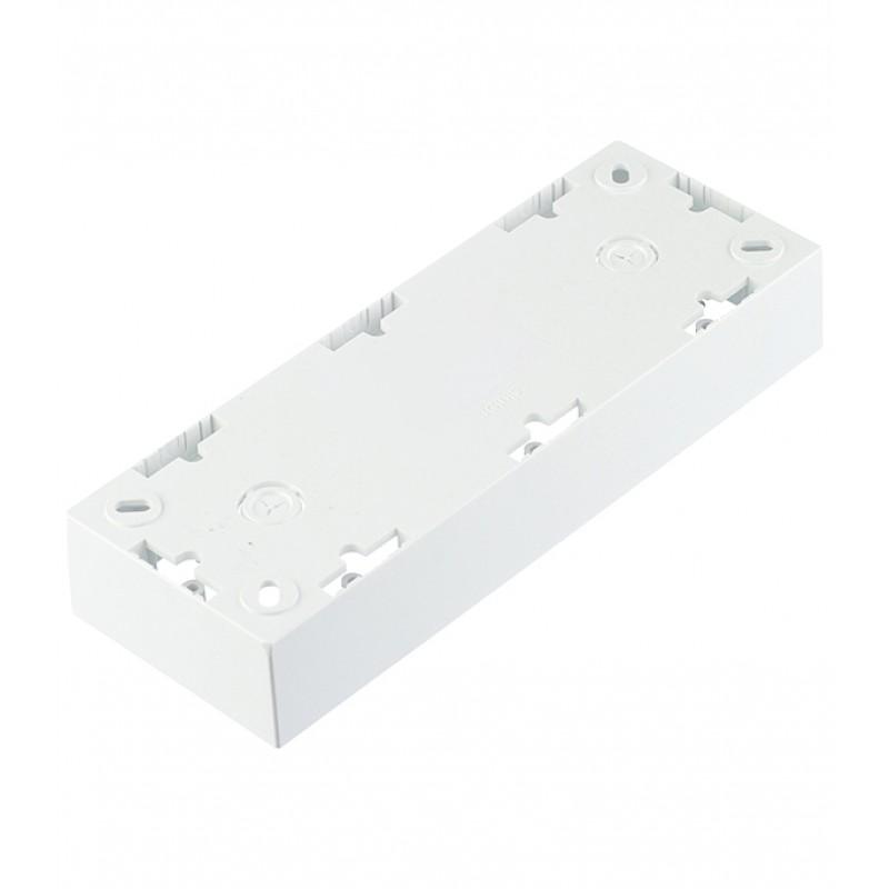 Коробка монтажная Simon 15 1590753-030 трехместная открытая установка белая (фото 4)
