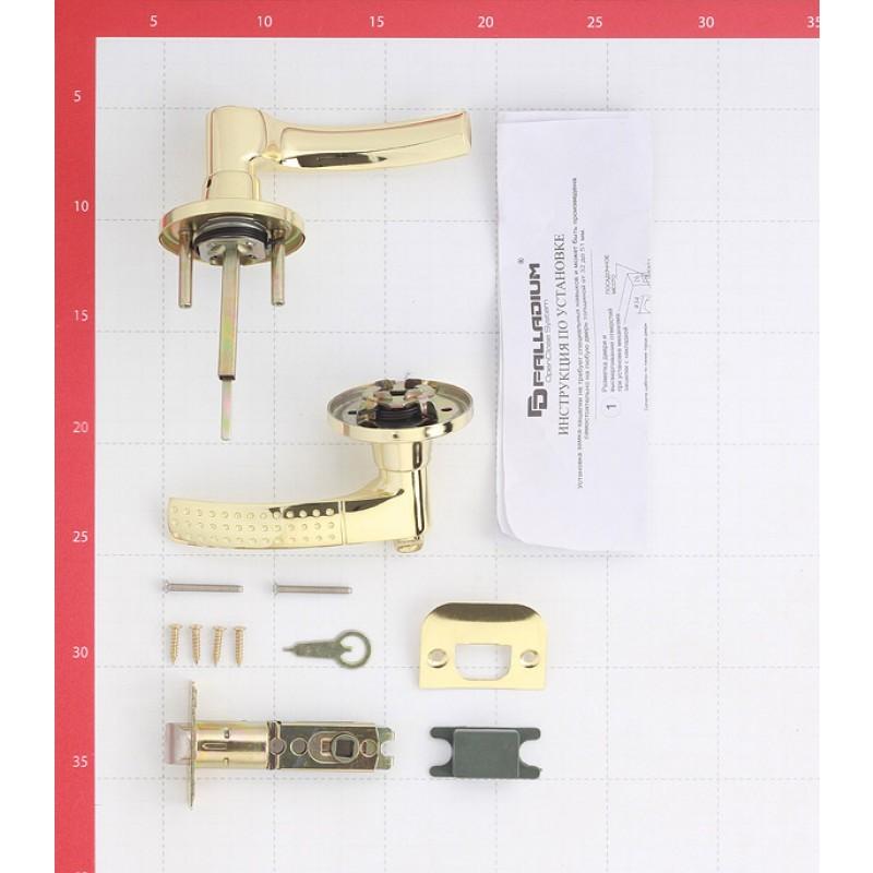 Ручка-защелка Palladium 3903 PB BK с фиксатором (латунь)