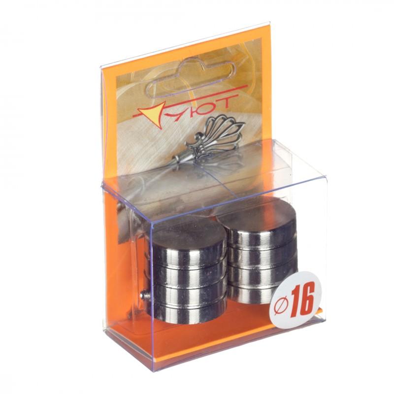 Наконечник Цилиндр-3 d 16 мм серебро 2 шт.