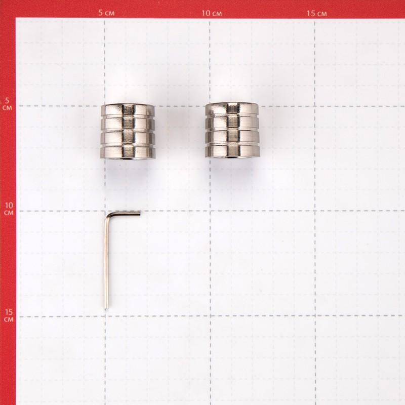 Наконечник Цилиндр-3 d 16 мм серебро 2 шт. (фото 3)