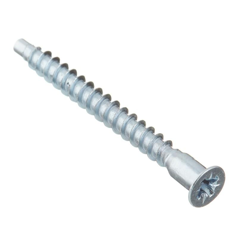 Стяжка шурупная оцинкованная 5х50 мм потайная головка PZ (20 шт.)