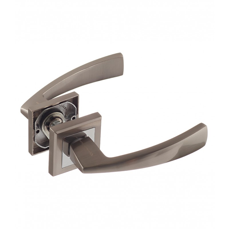 Ручка дверная Palladium City A Lazio SN квадратная розетка (матовый никель)