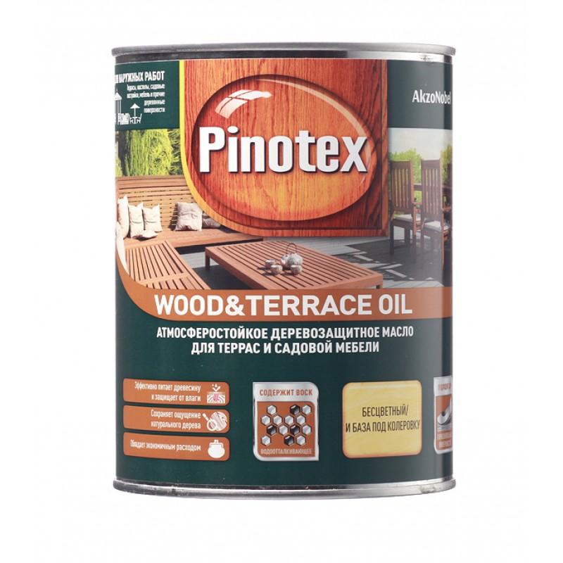 Масло Pinotex Wood&Terrace Oil для террас бесцветное 1 л