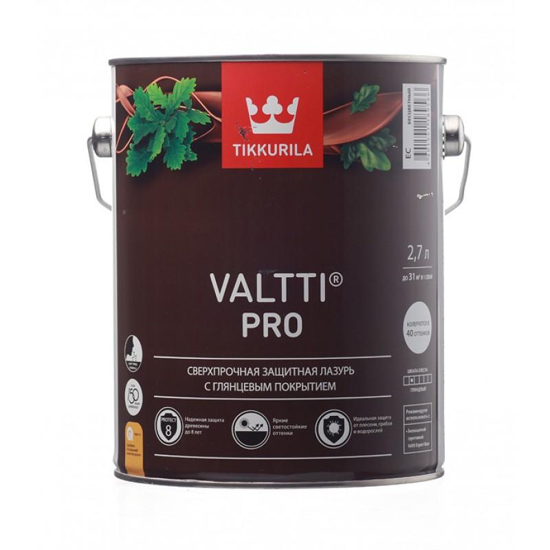 Антисептик Tikkurila Valtti Pro декоративный для дерева бесцветный 2,7 л