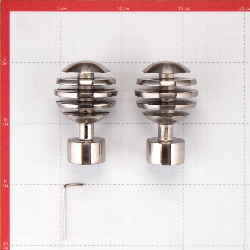 Наконечник Шар скан d 20 мм серебро 2 шт. (фото 3)
