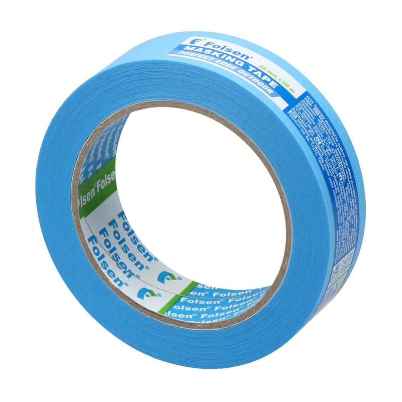 Лента малярная Folsen Professional для наружных работ синяя 30 мм 50 м УФ-стойкая
