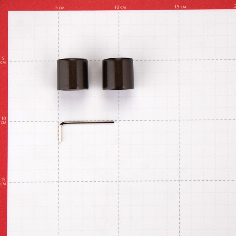 Наконечник Цилиндр d 16 мм шоколад 2 шт. (фото 3)