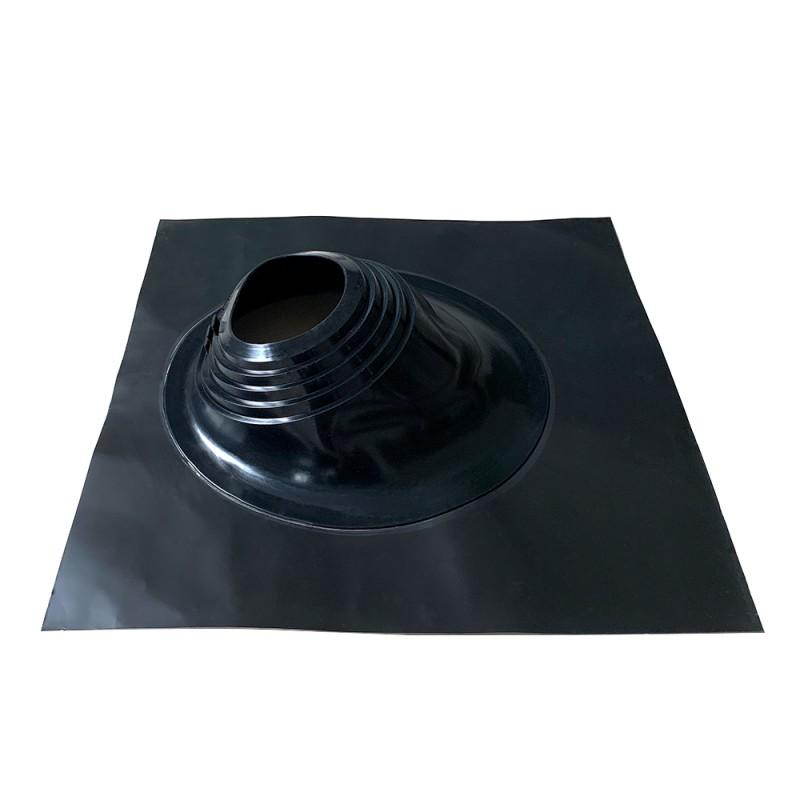 Проходка кровельная КМ 665х665 мм для дымоходов d203-280 мм черный силикон