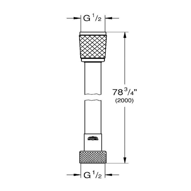 Шланг для душа GROHE VitalioFlex Comfort 2000 мм пластик