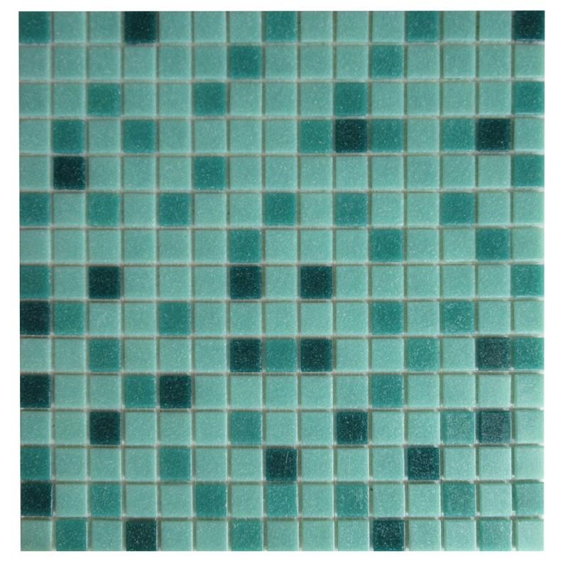 Мозаика Corsa Deco Sky голубой микс из стекломассы 327х327х4 мм матовая (10 шт.=1,069 кв.м)