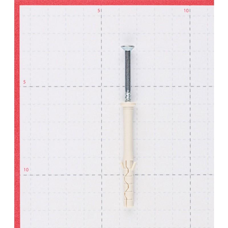 Дюбель-гвоздь Sormat 6x60 мм цилиндрическая манжета нейлон (200 шт.)